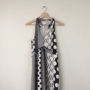 Anthropologie Maeve Polka Dot Paneled Maxi Dress